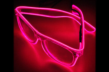 Neon LED Light Up Sunglasses- Pink