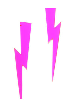 Pink Lightning Earrings - Lila Nikole