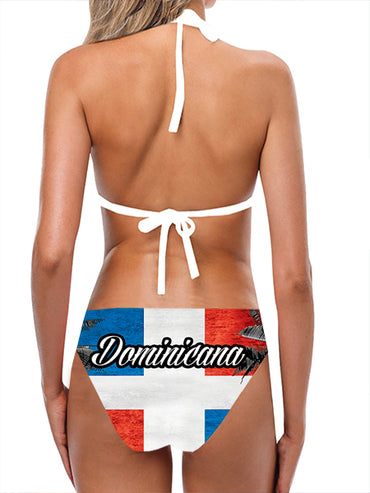 Dominican Republic Flag Bathing Suit