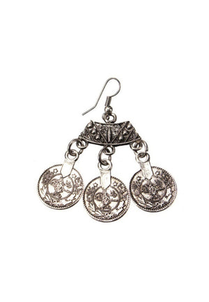 Load image into Gallery viewer, Silver Coin Earrings - Lila Nikole