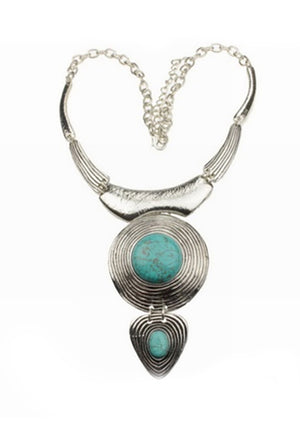 Load image into Gallery viewer, Silver Turquoise Necklace - Lila Nikole