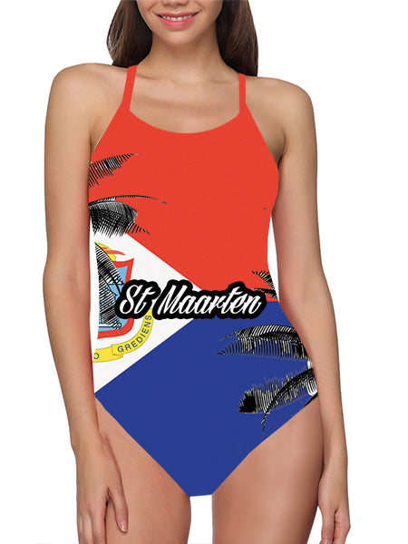 St Maarten Flag Bathing Suit