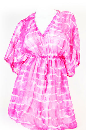 Tie Dye Cover Up- Pink - Lila Nikole