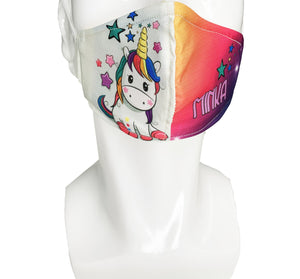 Unicorn Kid Face Mask - Lila Nikole