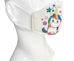 Load image into Gallery viewer, Unicorn Kid Face Mask - Lila Nikole