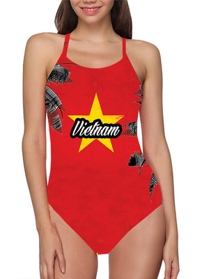 Vietnam Flag Bathing Suit - Lila Nikole