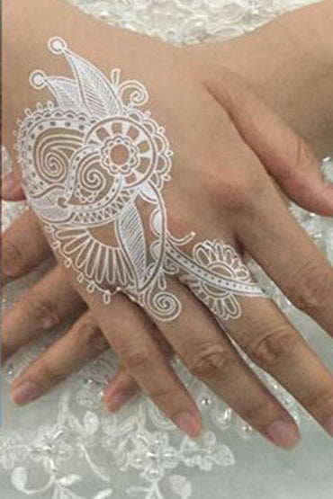 White Henna Temporary Tattoo Set #3