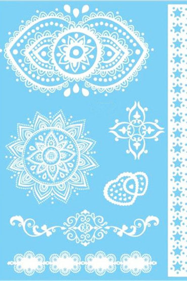 White Henna Temporary Tattoo Set #1