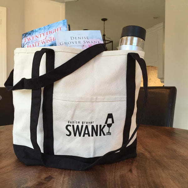 Denise Grover Swank Canvas Tote Bags