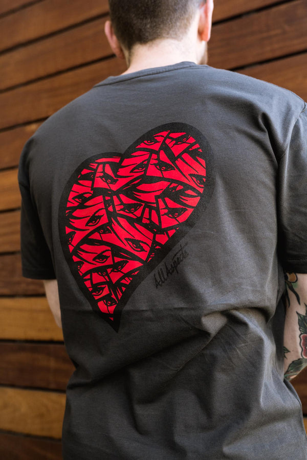 Made With Love Tee - Charcoal