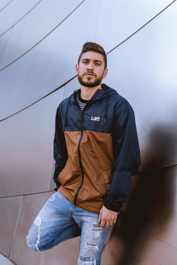 Eyes Windbreaker - Navy/Copper
