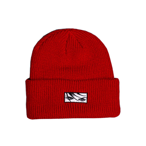 Eyes Beanie - Red