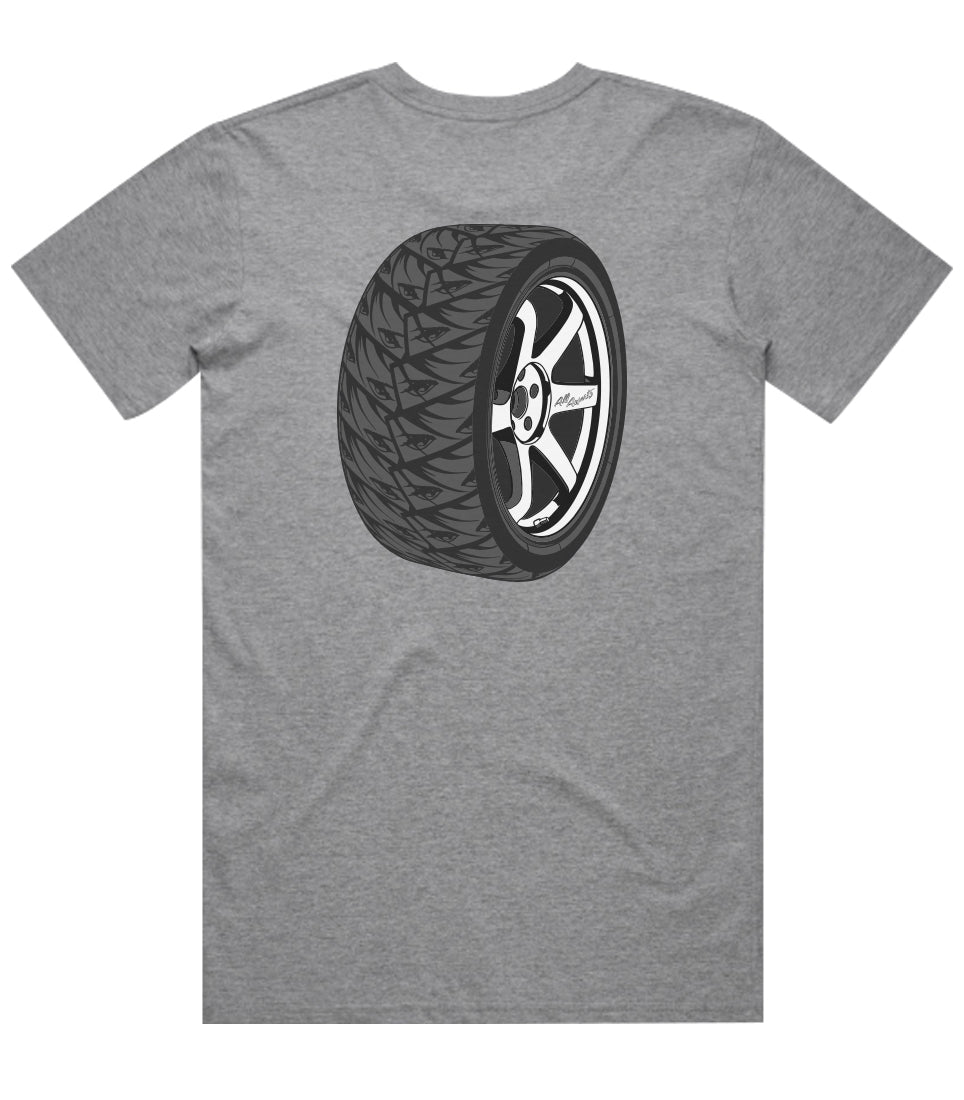 Eyes Tire Tee - Athletic Heather