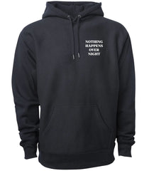 Embroidered NHON Hoodie - Black