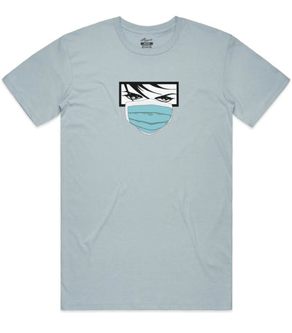 Quarantine Eyes Tee - Pale Blue