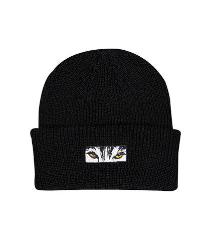 Wolf Eyes Beanie - Black