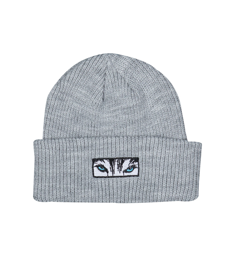 Wolf Eyes Beanie - Grey