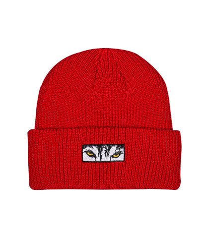 Wolf Eyes Beanie - Red