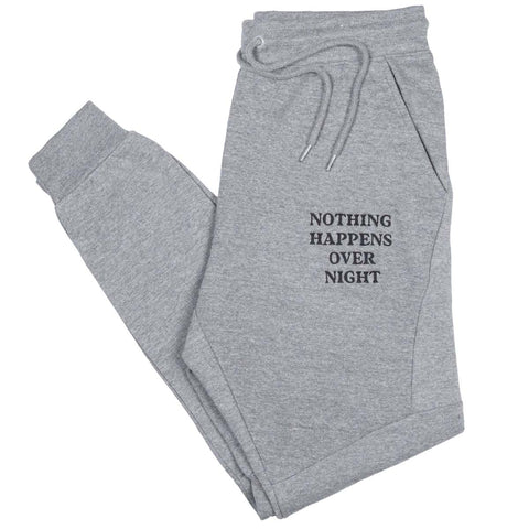 Embroidered NHON Joggers - Grey
