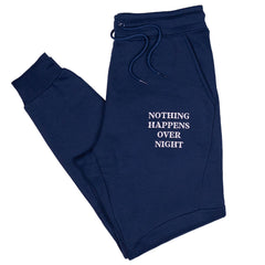 Embroidered NHON Joggers - Navy