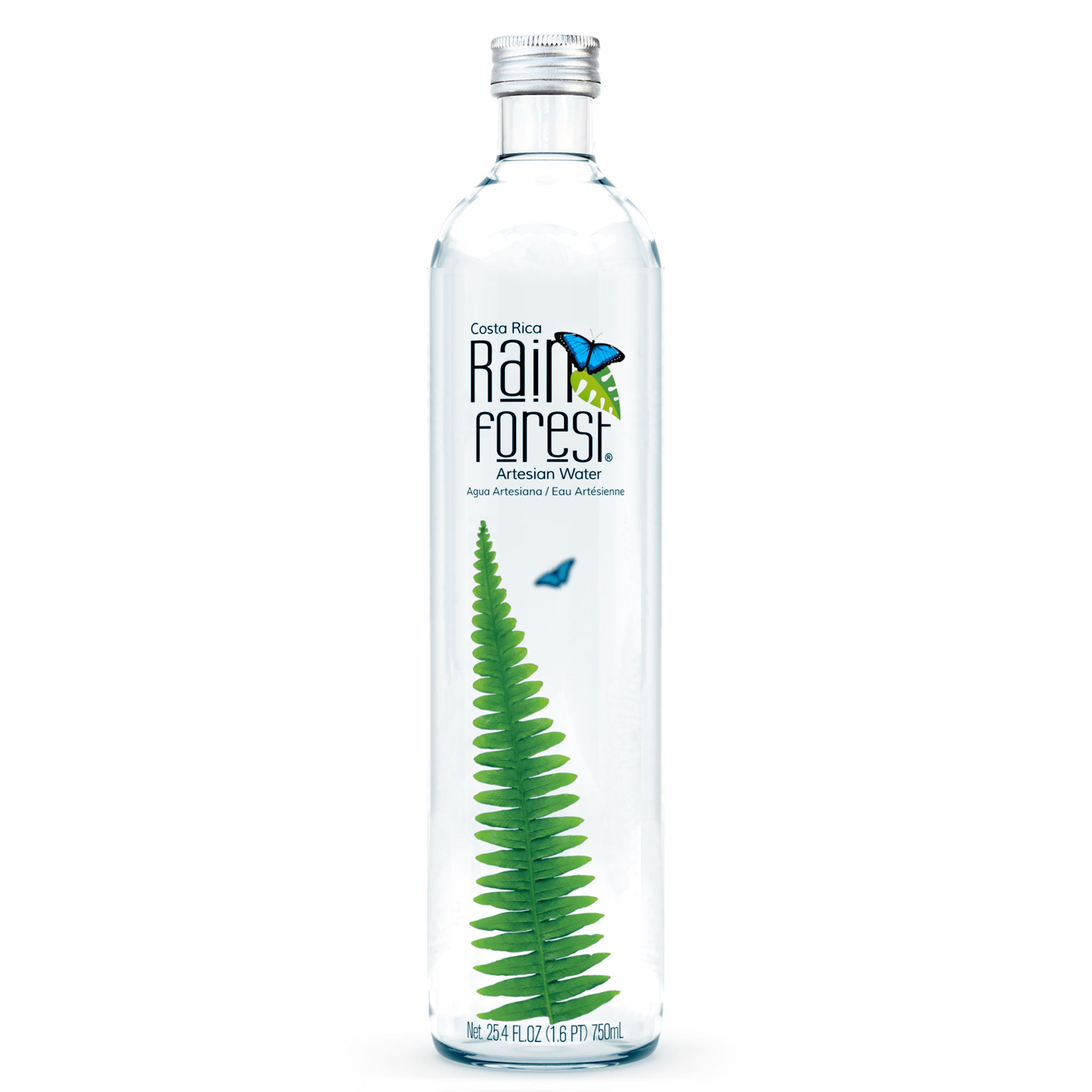 RainForest Water Vidrio 750mL [Caja de 6]