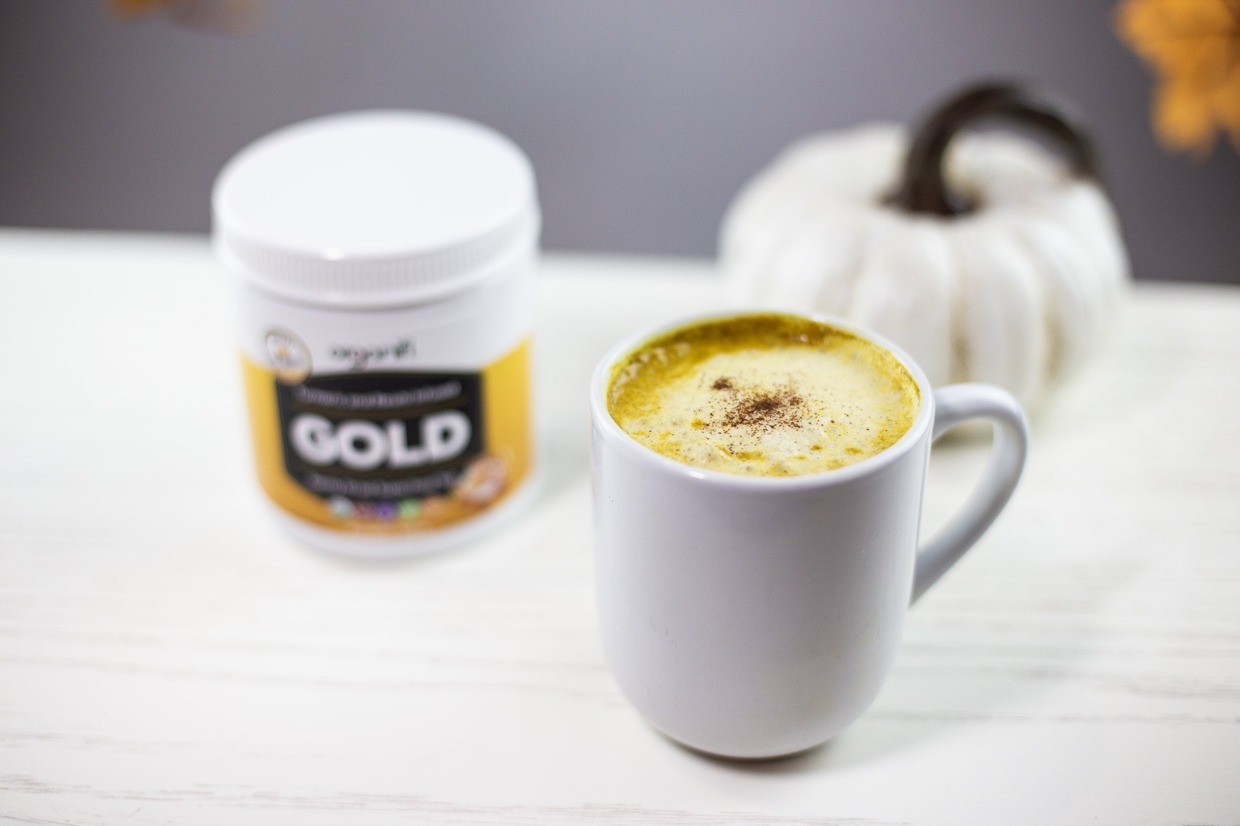 "Boost Health, Wellness & Relaxation With This Organifi GOLD, Pumpkin Spice ""Vegan Latte"""