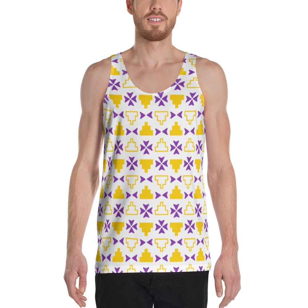 Gold and Navy kuLi print Tank Top