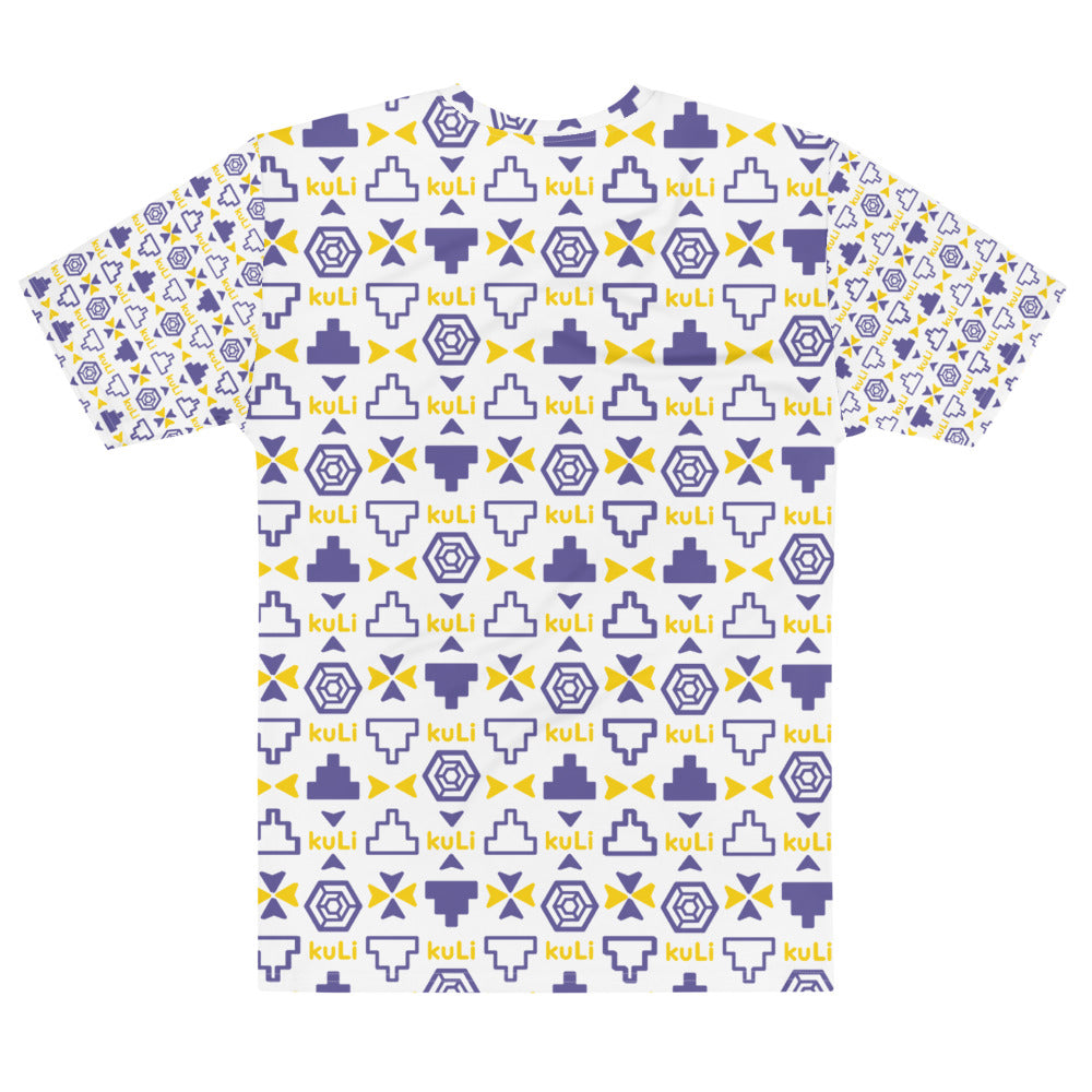T-Shirt Navy and Gold kuLi Print