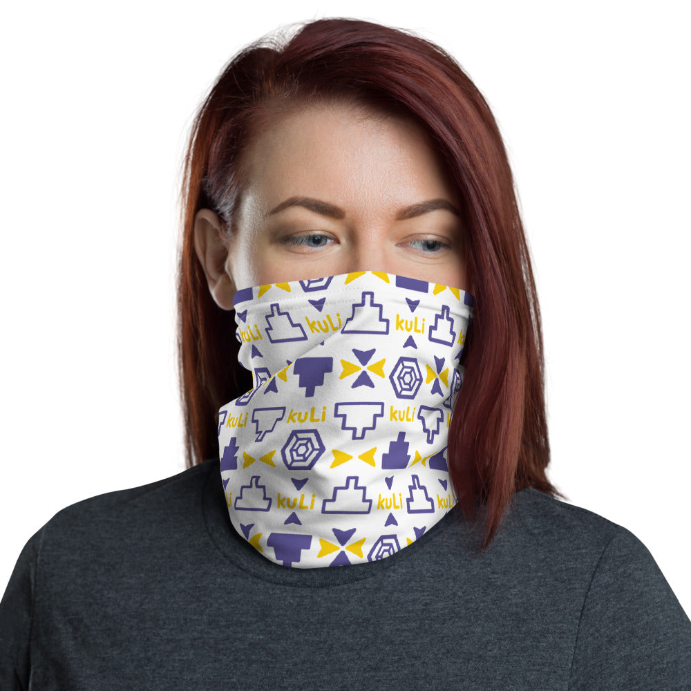kuLi Gold and Navy Neck Gaiter