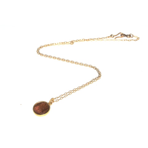 Big Island Koa Mini Circle Necklace