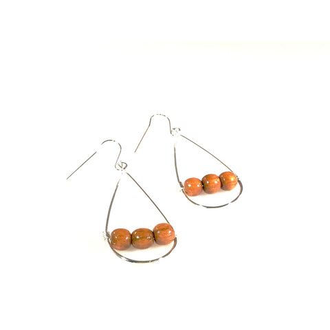 Big Island Koa Drop Earrings