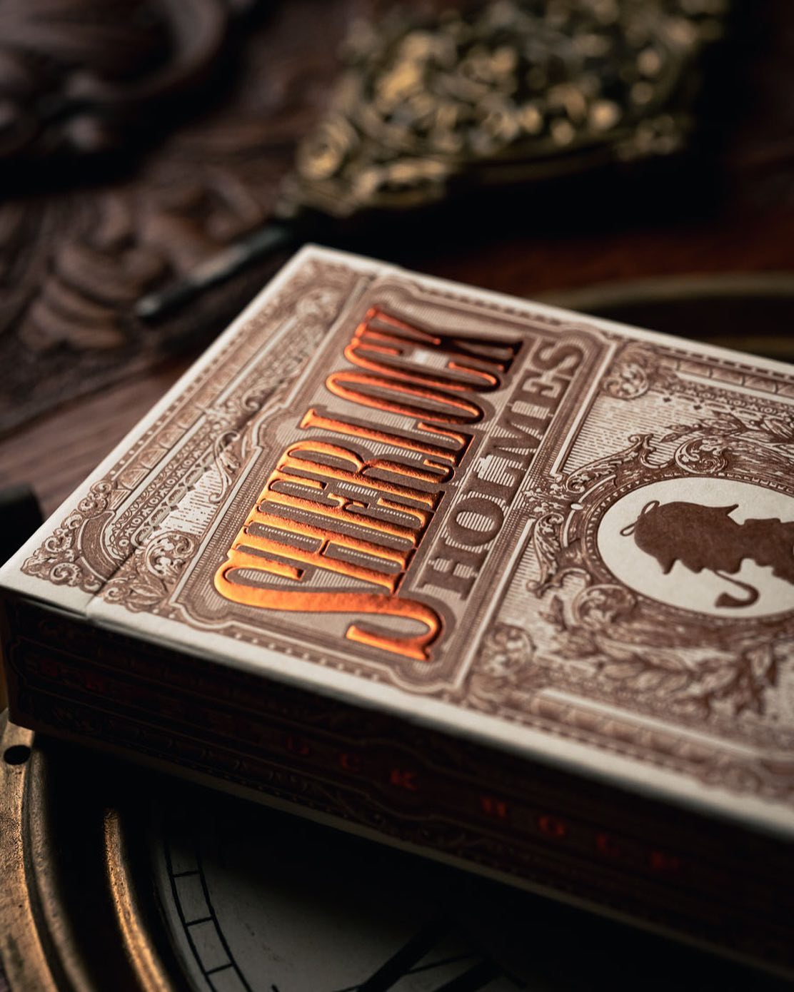Sherlock Holmes Playing cards are designed by Jackson Robinson and produced by Kings wild project. Based on the legendary detective the Sherlock holmes playing cards feature all main characters of the Sherlock holmes novel and movie and are collectable.