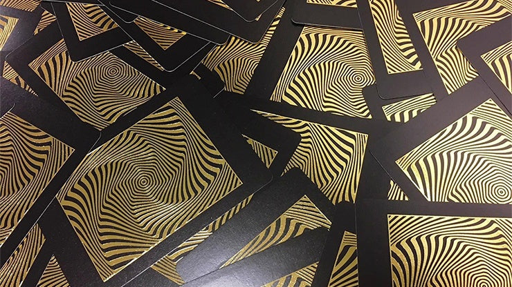 Royal Vortex Gold Foil Playing Cards by PlayingCardDecks