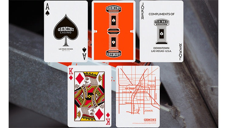 Gemini Casino Orange Playing Cards by Gemini
