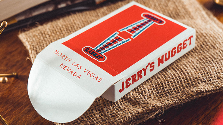 Jerry's Nuggets Vintage Feel Red Playing Cards