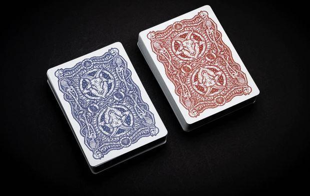 666 Crimson Flare Playing Cards Playing Cards by Riffle Shuffle Playing Card Company