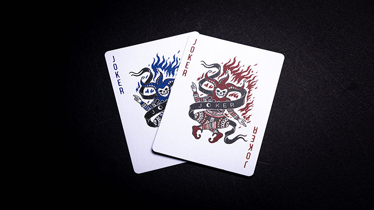 666 Cobalt Blue Playing Cards