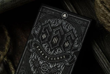 666 Silver Dark Reserve Playing Cards Playing Cards by Riffle Shuffle Playing Card Company