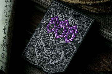 666 Purple Inferno Playing Cards by Riffle Shuffle Playing Cards by RarePlayingCards.com