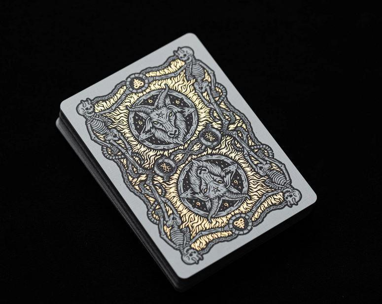 666 Dark Reserves Gold Foil Playing Cards