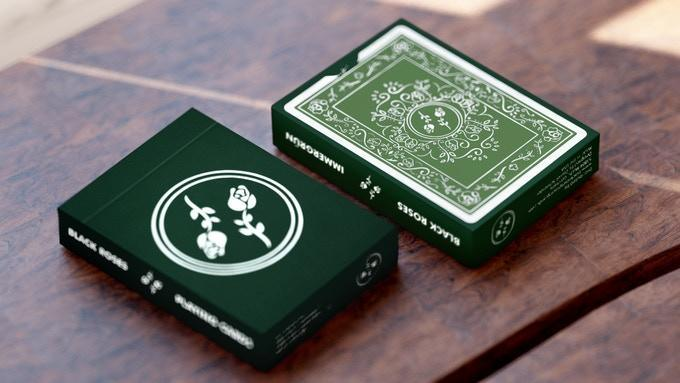 Black Roses 2nd Immergrün Edition Playing Cards by Daniel Schneider