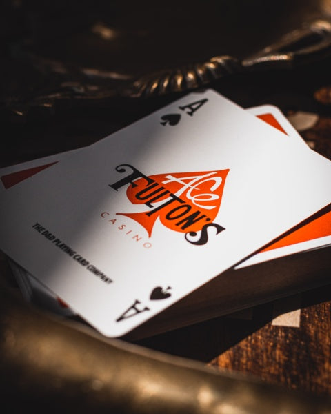 Ace Fulton's Casino Vintage Back (Orange) Playing Cards Playing Cards by Dan & Dave