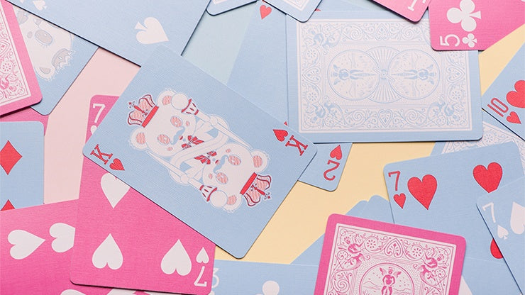 Bicycle Lovely Bear Playing Cards - Pink (Limited Edition)