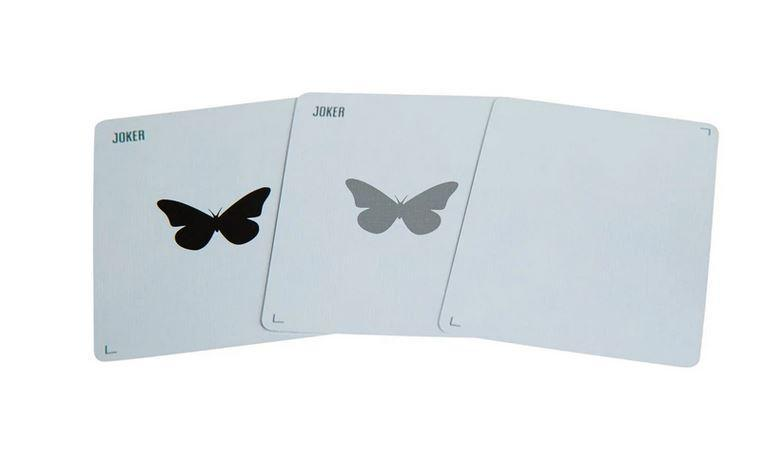 Butterfly Playing Cards Black & Silver Unmarked Playing Cards by RarePlayingCards.com