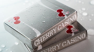 Cherry Casino Playing Cards - McCarran Silver Playing Cards by RarePlayingCards.com
