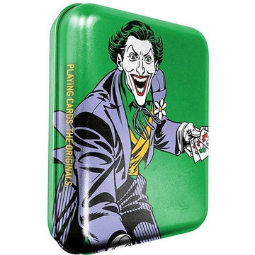 DC Super Heroes Joker Playing Cards (Tattoo Tin Boxes Display) Playing Cards by Cartamundi