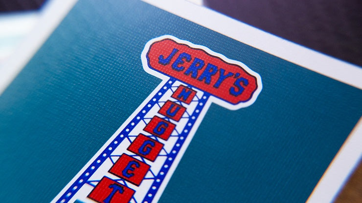 Gilded Vintage Feel Jerry's Nuggets (Aqua) Playing Cards Playing Cards by Murphy's Magic