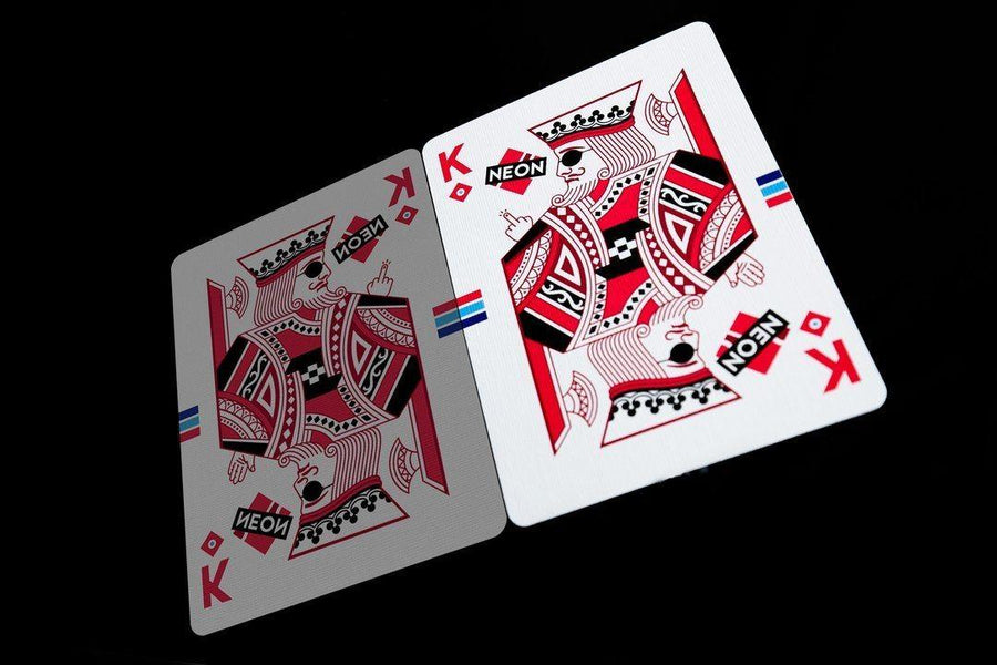 Hyper Neon Playing Cards by Riffle Shuffle Playing Cards by Riffle Shuffle Playing Card Company