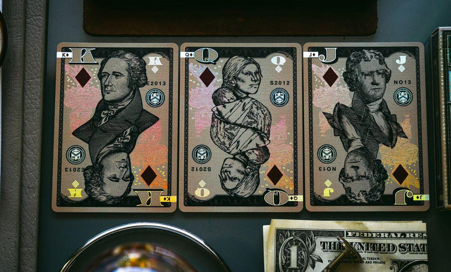 Holographic Legal Tender Version II by Kings Wild Projects Playing Cards by Kings Wild Project