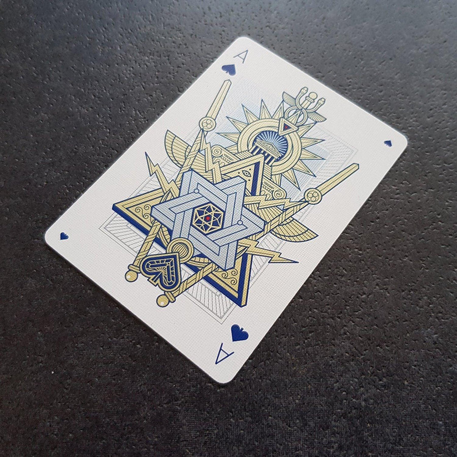 Pantheon Azure Playing Cards Playing Cards by Thirdway Industries